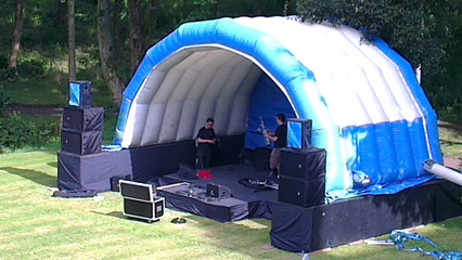 Inflatable Stage Cover Hire